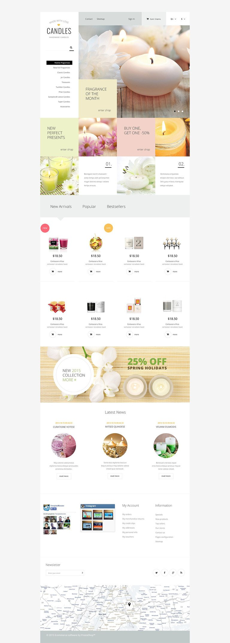 Candle Light PrestaShop Theme New Screenshots BIG