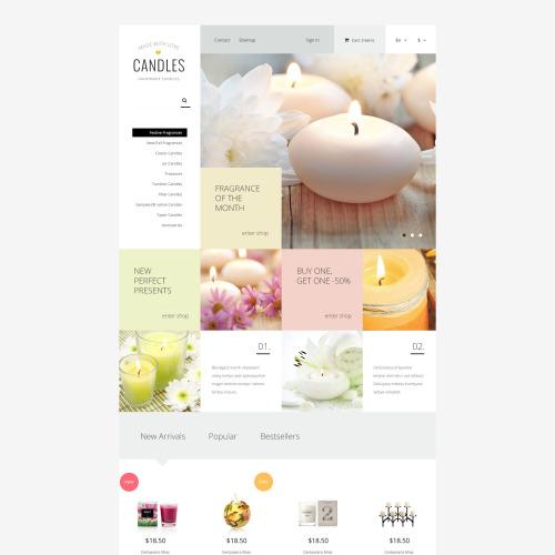 Candles - PrestaShop Template based on Bootstrap