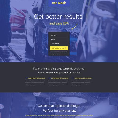 Car Wash - Responsive Landing Page Template