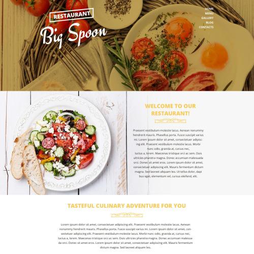 Big Spoon - Responsive Drupal Restaurant Template