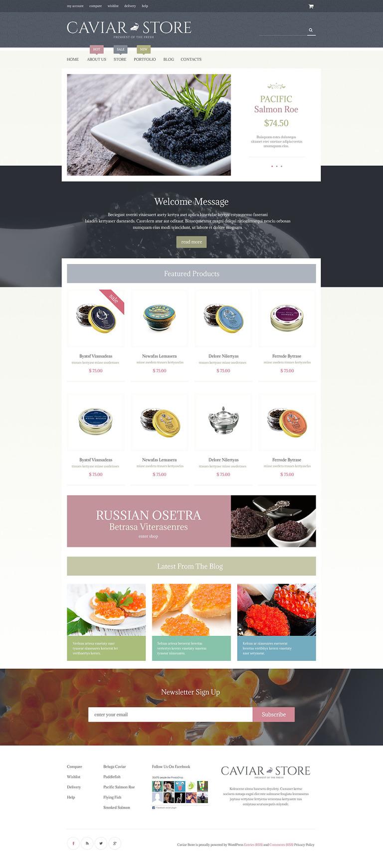 Caviar Delicacy WooCommerce Theme New Screenshots BIG