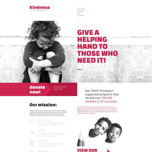 Kindness - Responsive Drupal Template