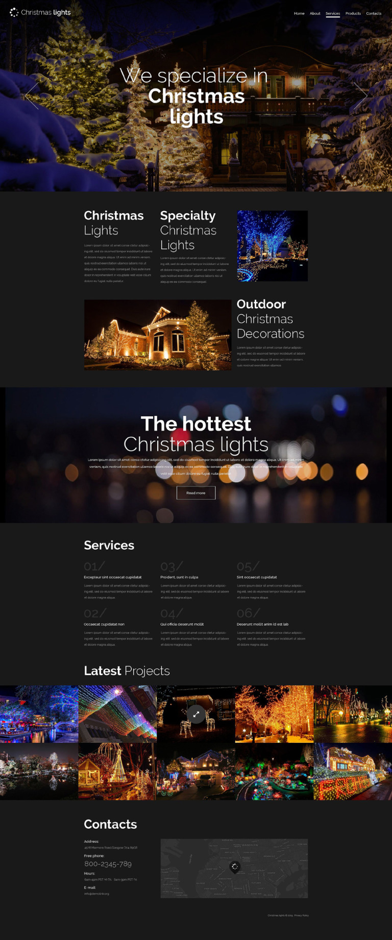 Christmas Responsive Website Template New Screenshots BIG