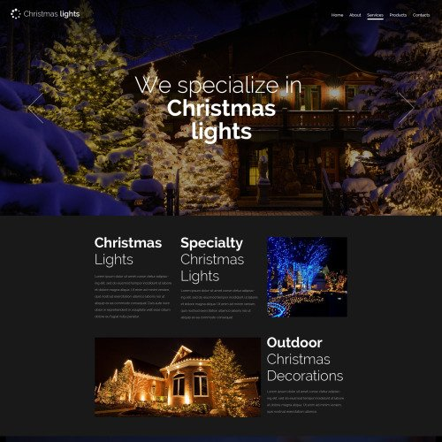 Christmas Lights - Website Template based on Bootstrap