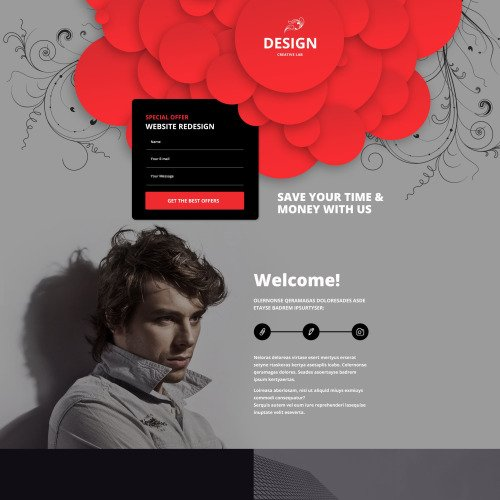 Design  - Responsive Landing Page Template