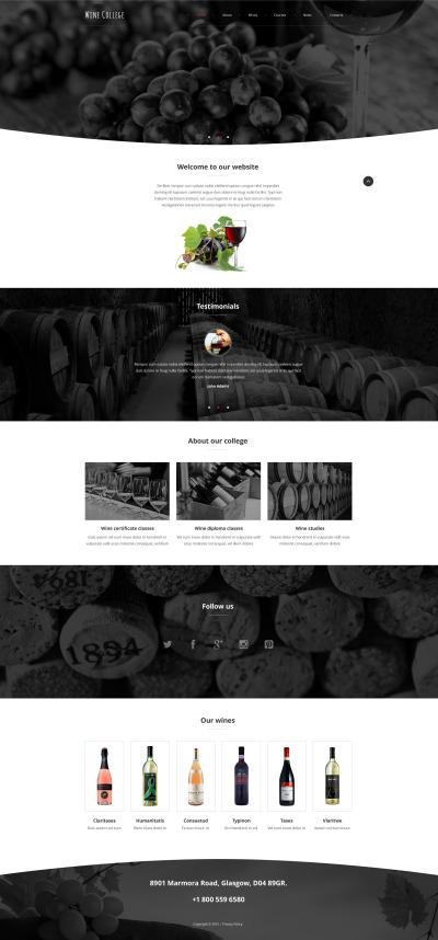Winery Responsive Website Template