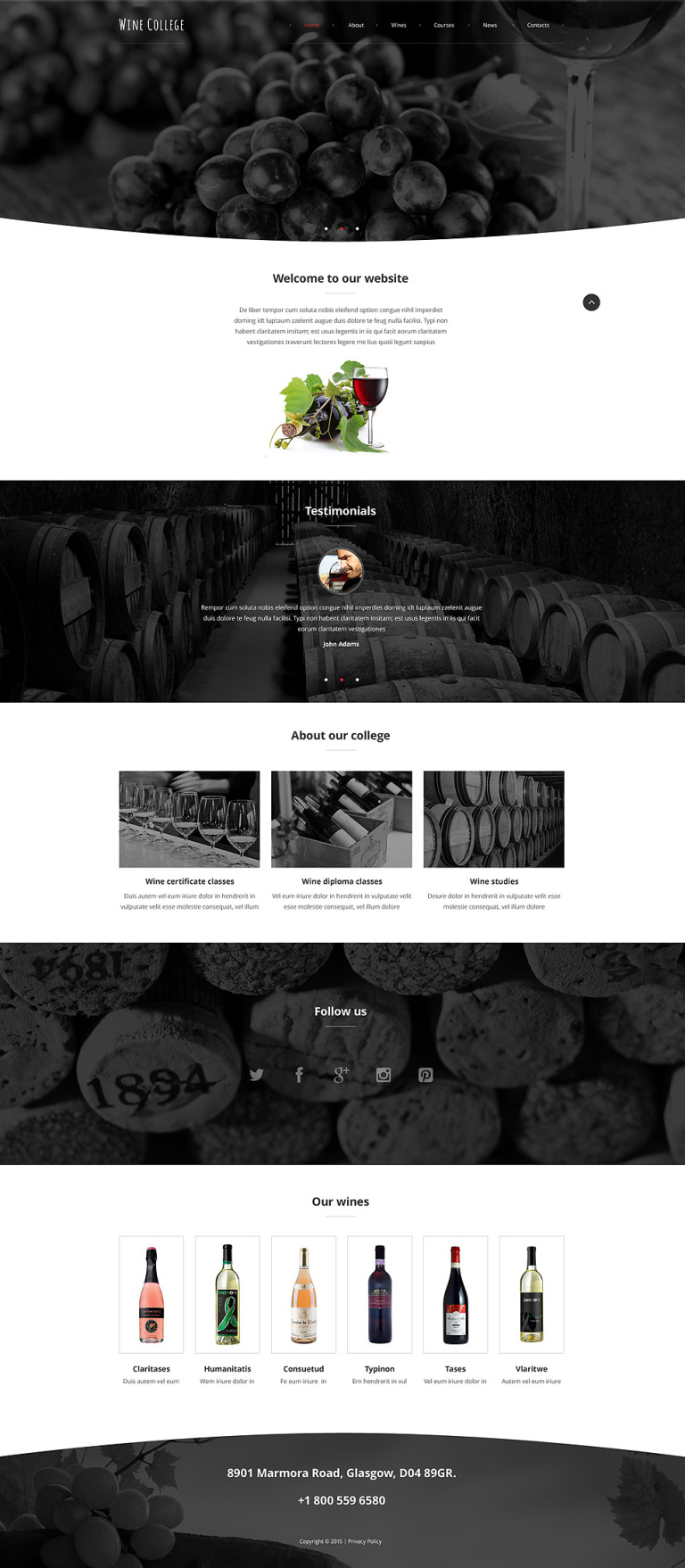 Exquisite Wine Website Template New Screenshots BIG