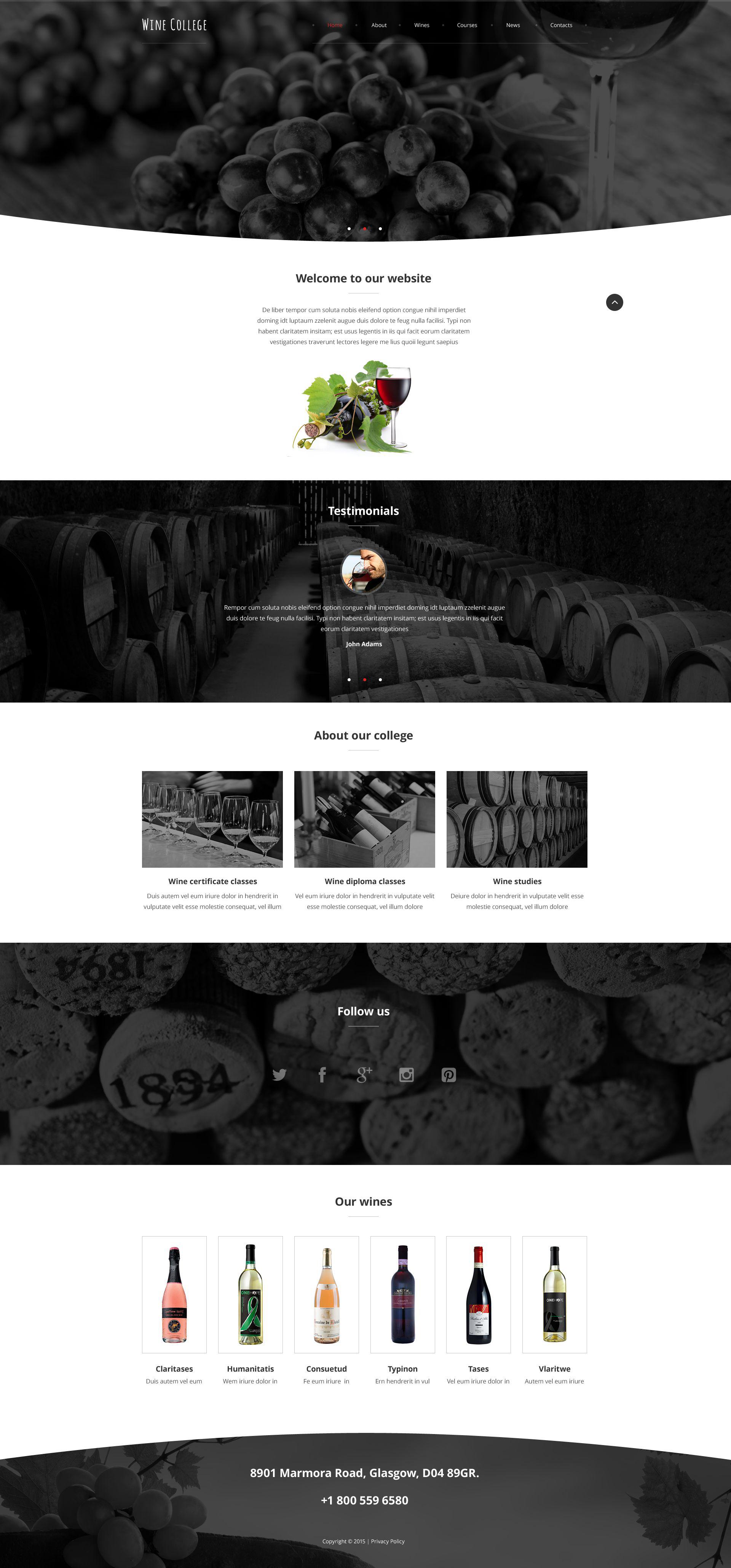 Exquisite Wine Website Template