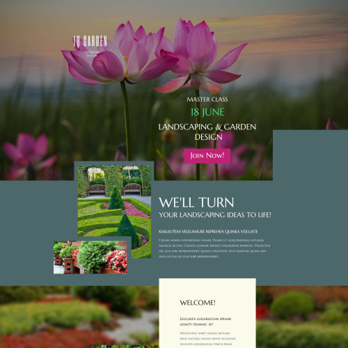 Iq Garden - Responsive Landing Page Template
