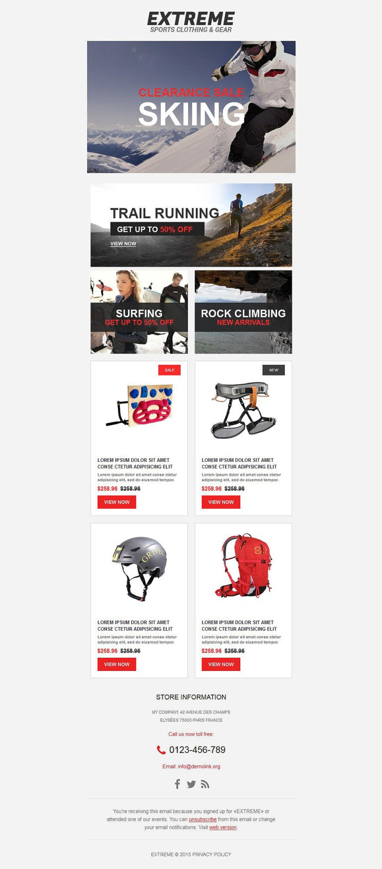 Extreme Sports Responsive Newsletter Template New Screenshots BIG