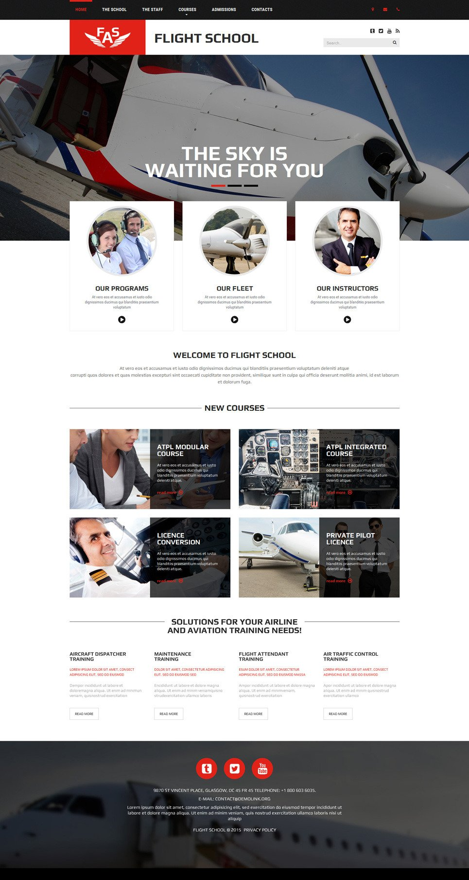 FAS Website Template New Screenshots BIG