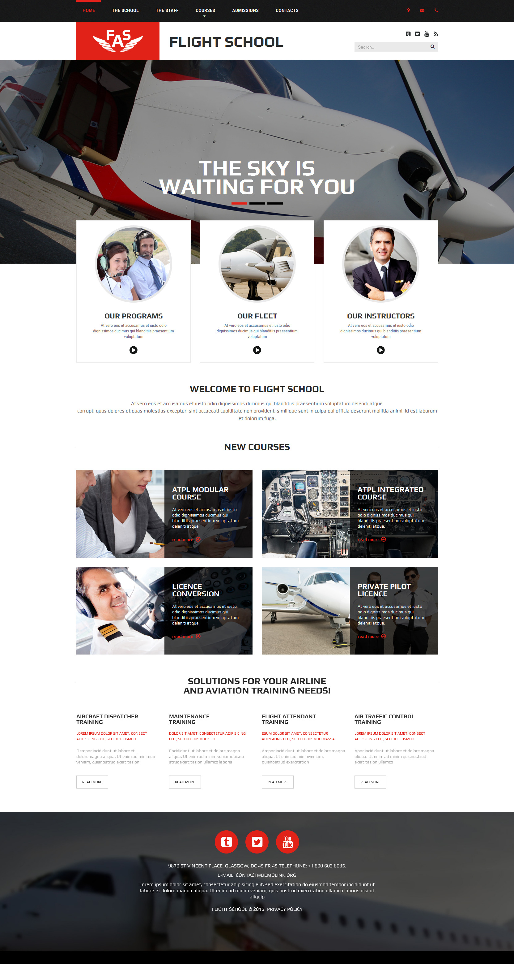 FAS Website Template