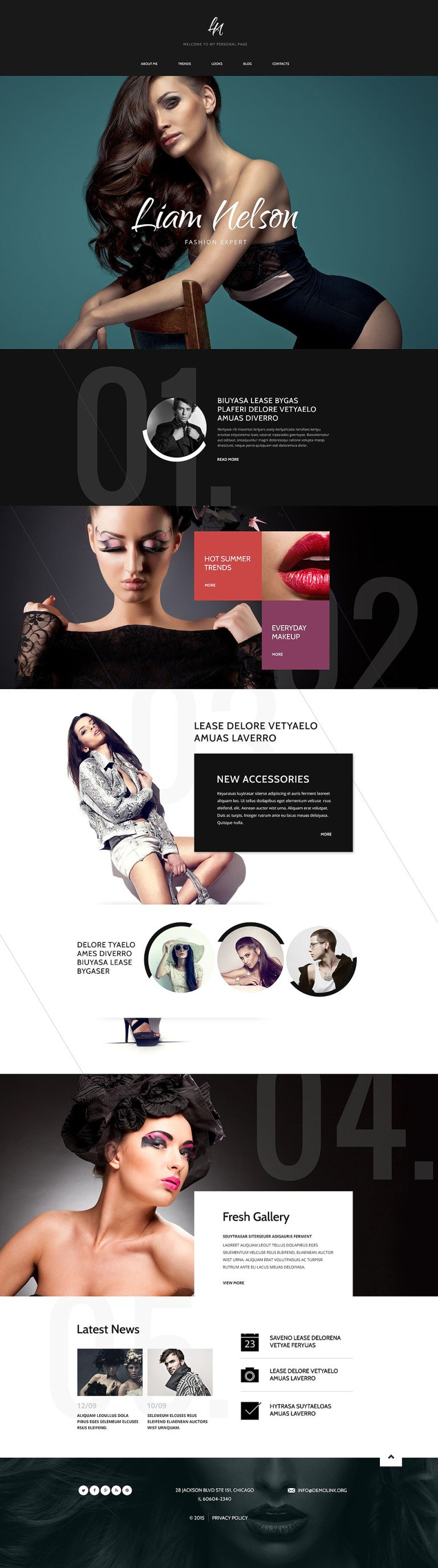 Fashion Expert Drupal Template New Screenshots BIG