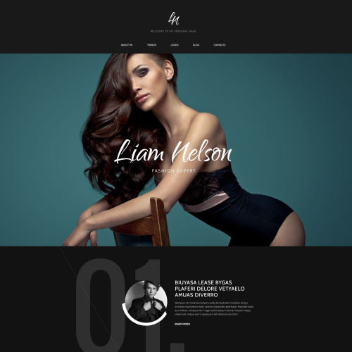 Liam Nelson - Responsive Drupal Template