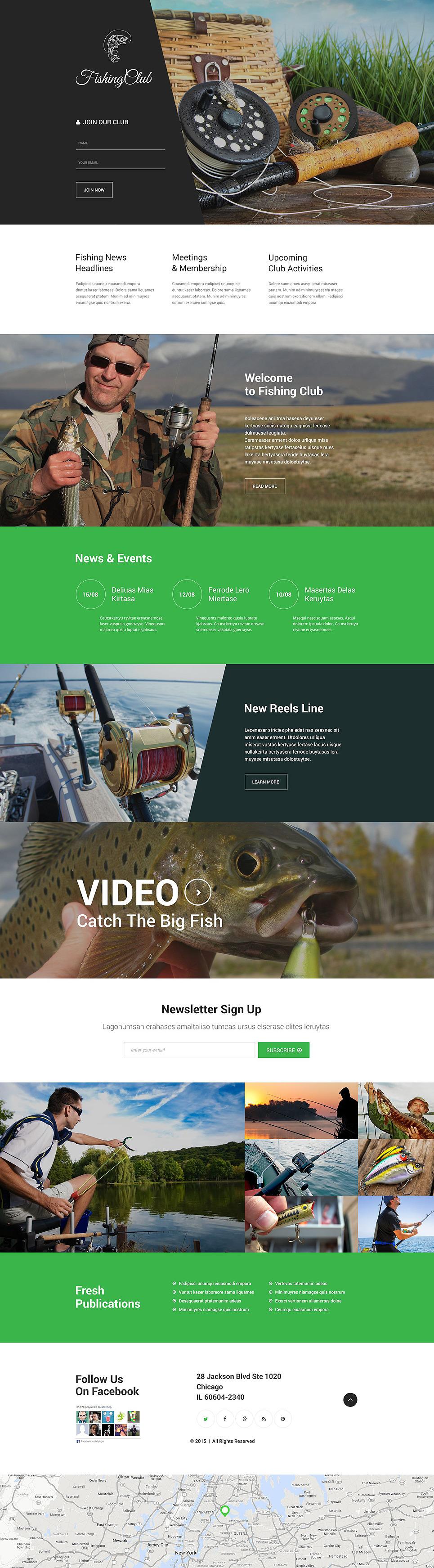 Fishing Responsive Landing Page Template New Screenshots BIG