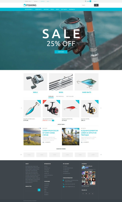 Fishing Responsive PrestaShop Thema