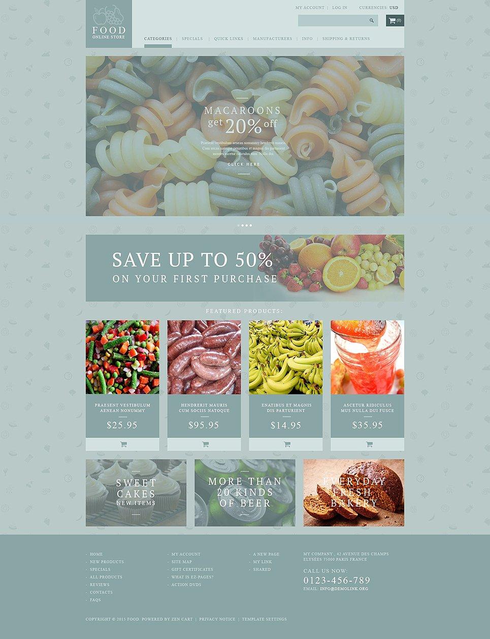 Food Store Zen Cart Themes