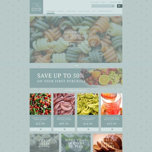 Food Shop - Responsive ZenCart Template