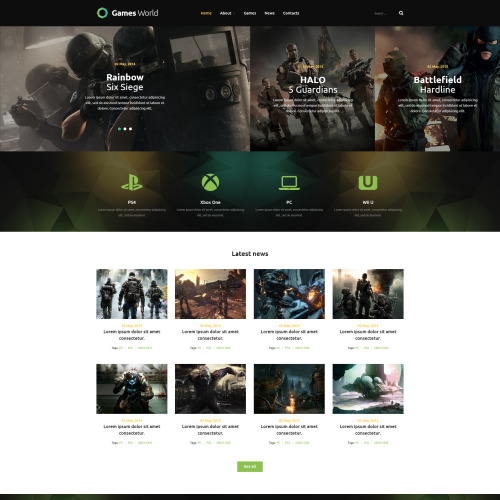 Games World - Joomla! Template based on Bootstrap