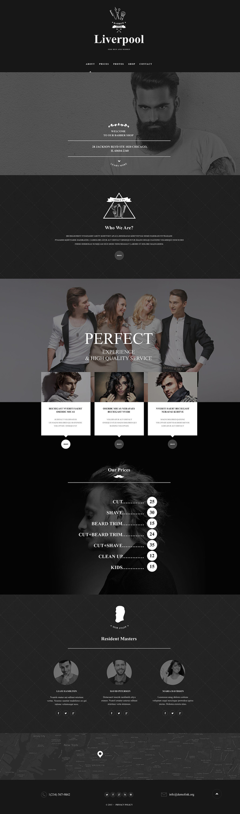 Hair Salon Muse Template New Screenshots BIG