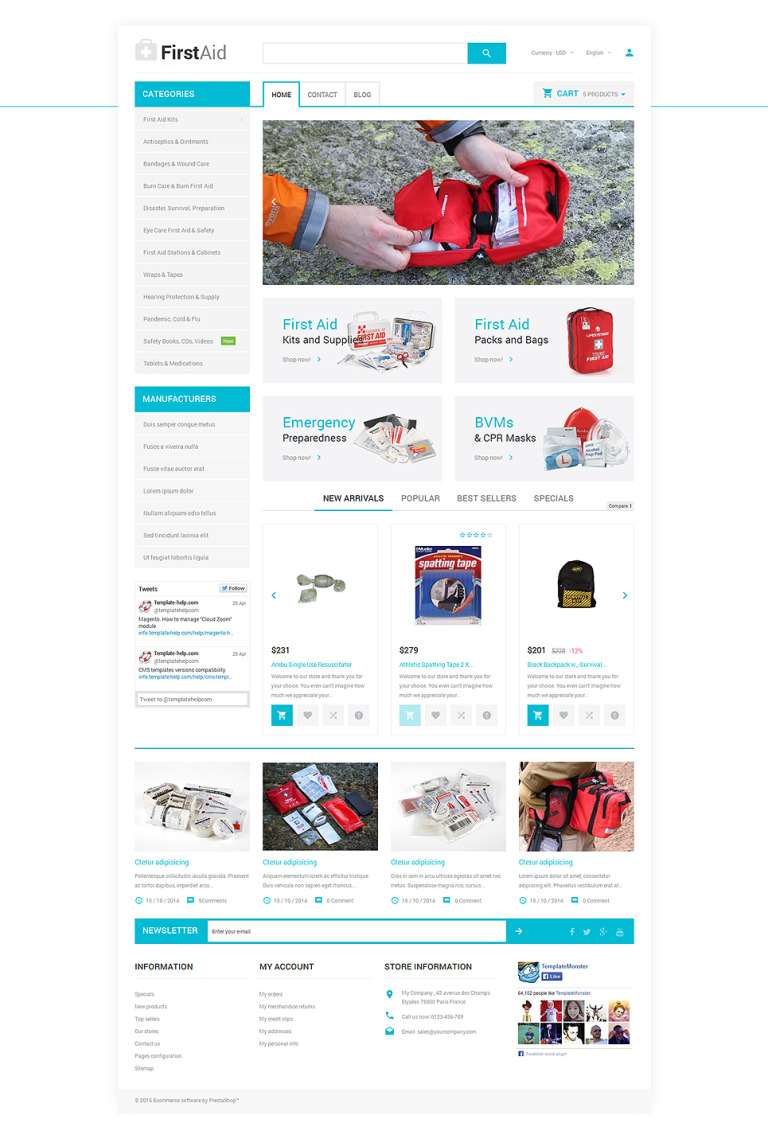 Healthcare Essentials Store PrestaShop Theme New Screenshots BIG