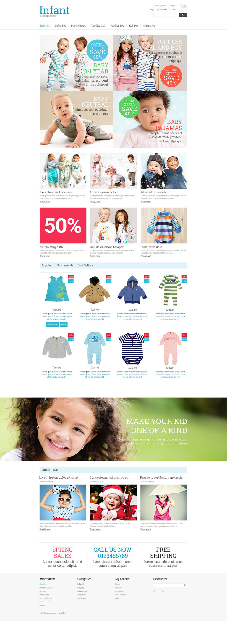 Infant Clothing Store PrestaShop Theme New Screenshots BIG