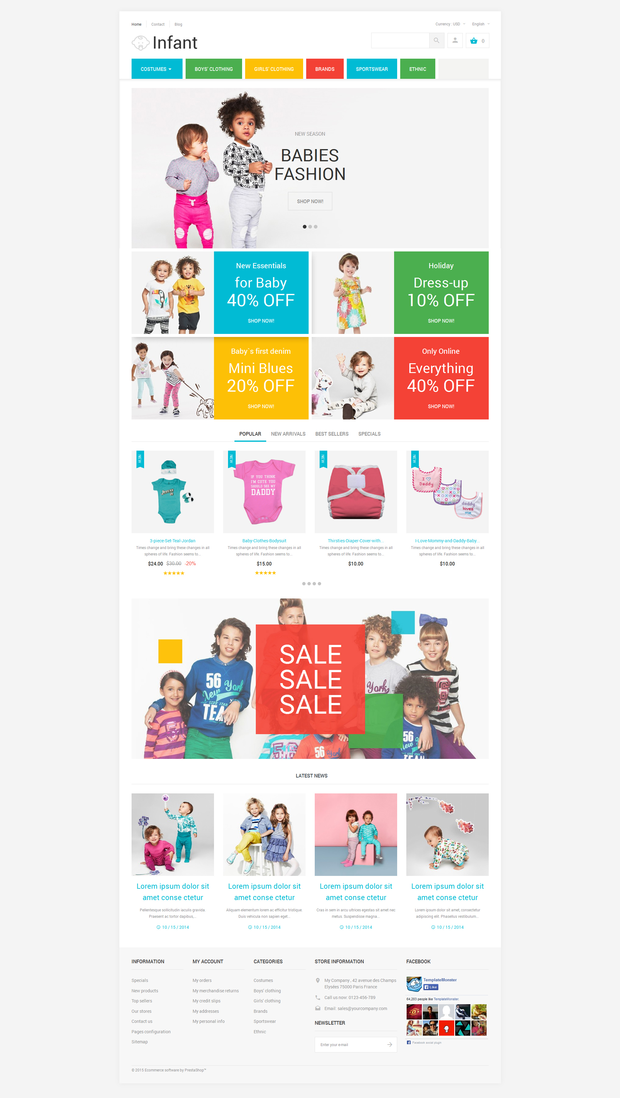 Infant Clothing Store PrestaShop Theme - screenshot