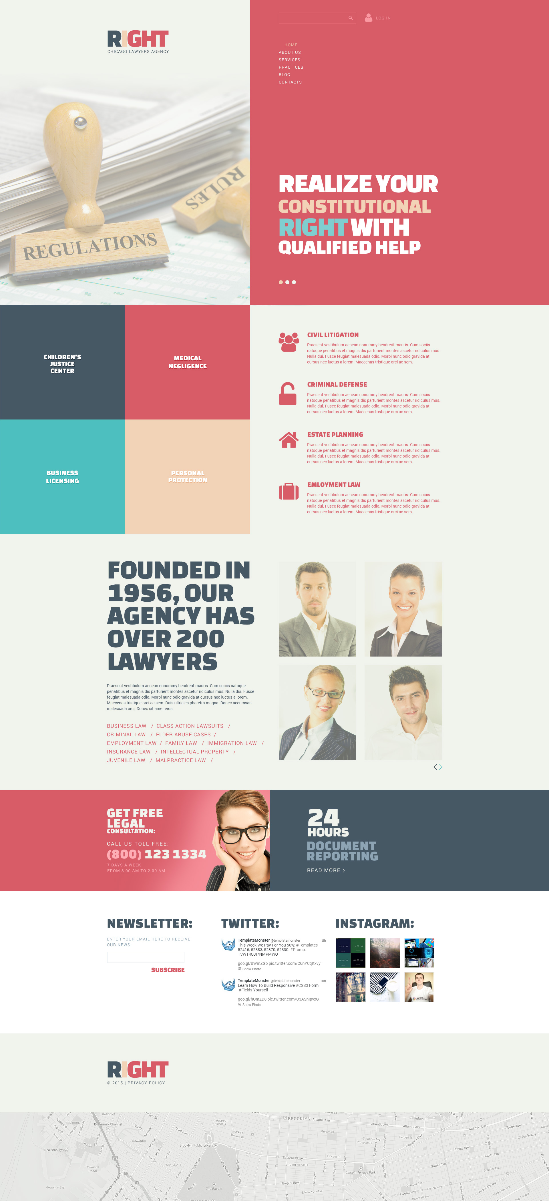"Joomla Vorlage namens ""Lawyers Agency"" #53848"