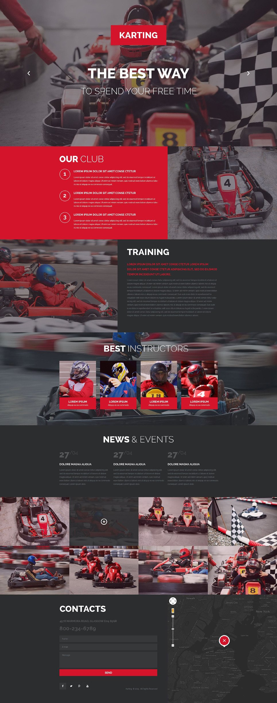 Karting Responsive Landing Page Template New Screenshots BIG