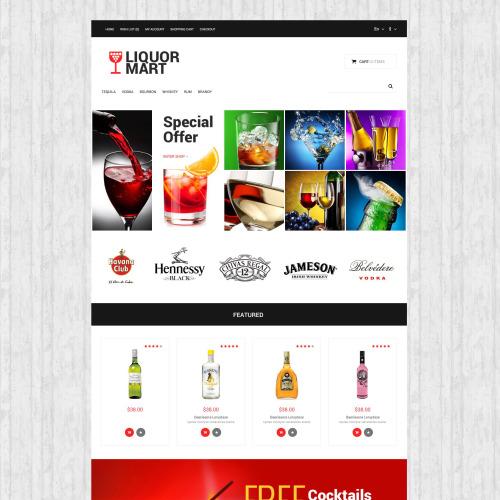 Liquor Mart - OpenCart Template based on Bootstrap