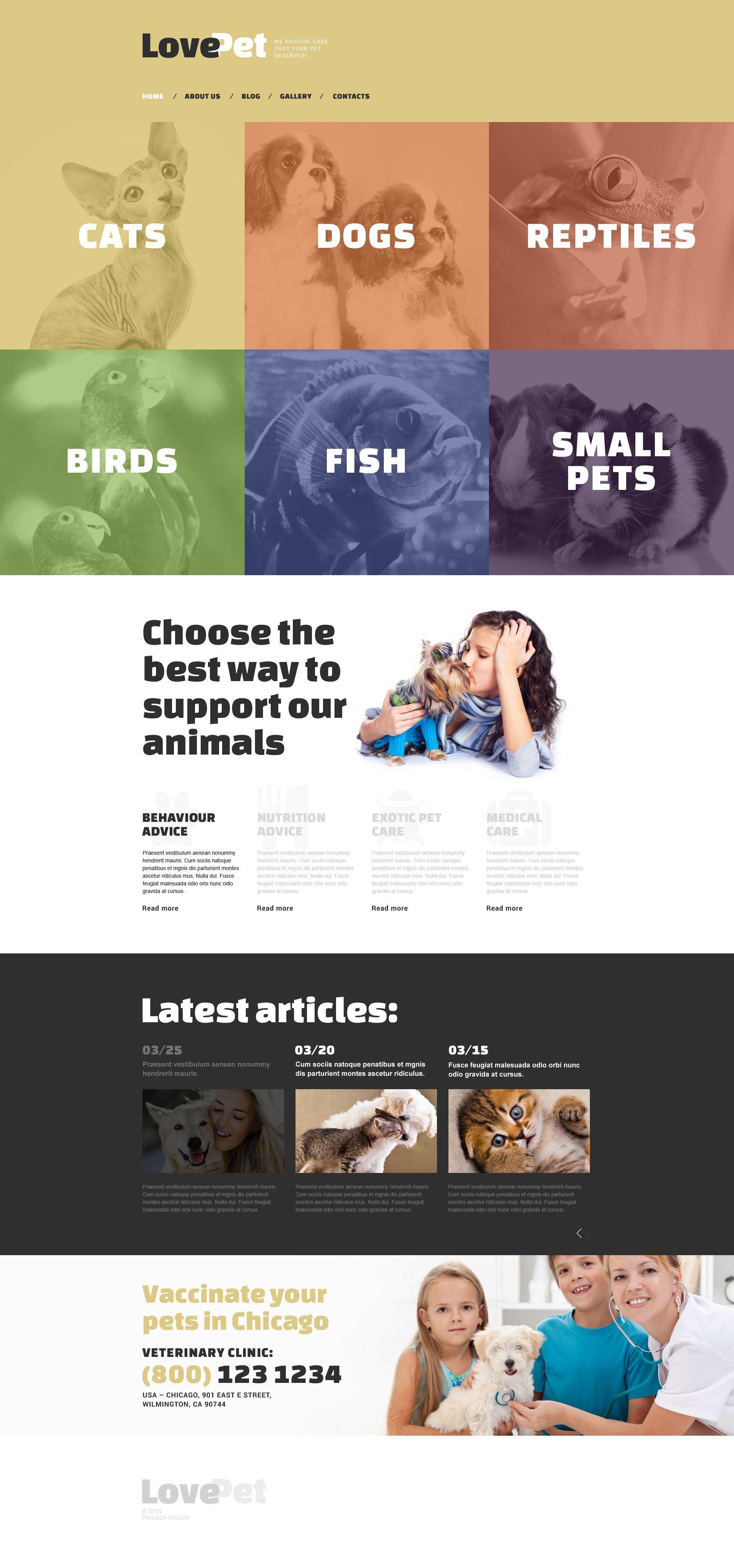Love Pet Drupal Template - screenshot