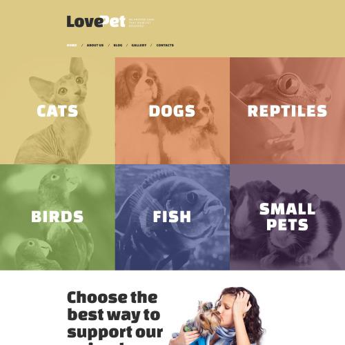 Love Pet - Responsive Drupal Template