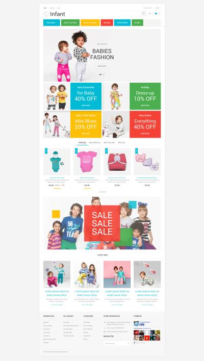 Thème PrestaShop adaptatif  pour magasin de bébé