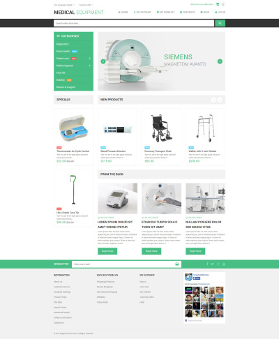 Medical Stuff Store Magento Theme #53806