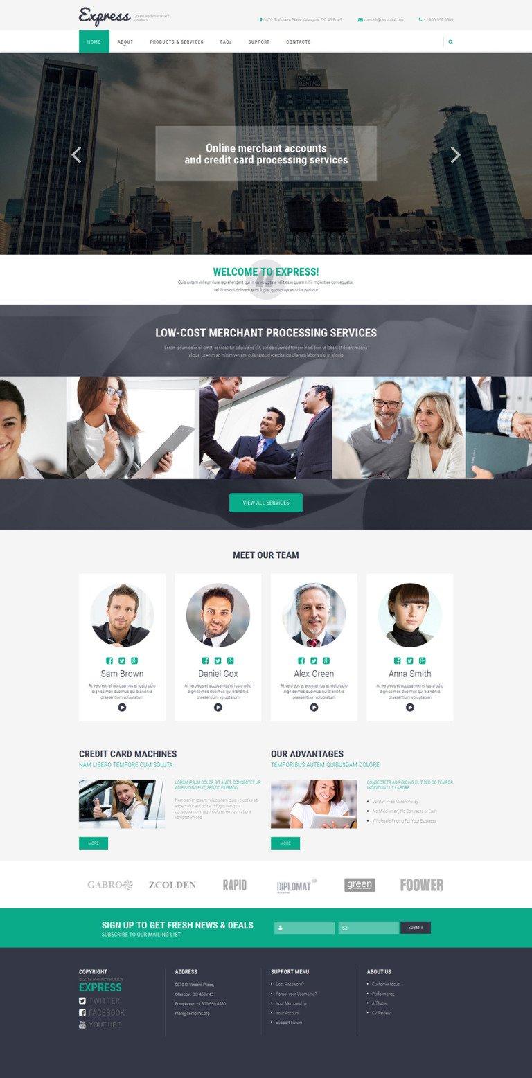 Merchant Services Website Template New Screenshots BIG
