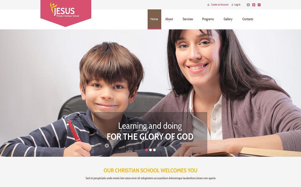 Modello Siti Web Responsive #53867 per Un Sito di Cristianismo New Screenshots BIG
