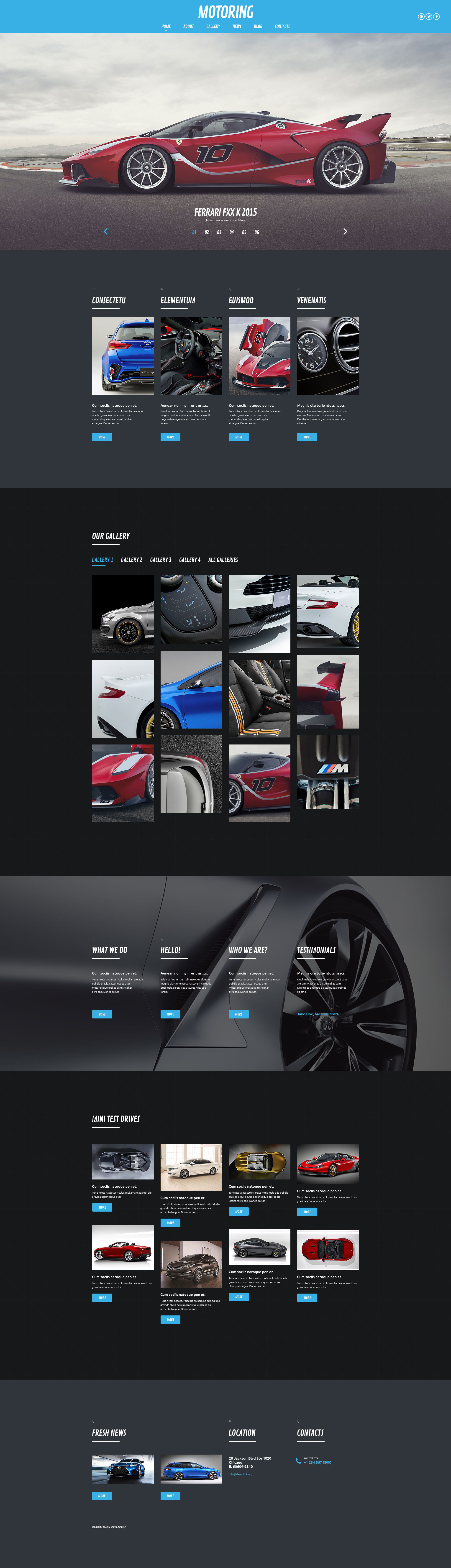 Motoring WordPress Theme - screenshot