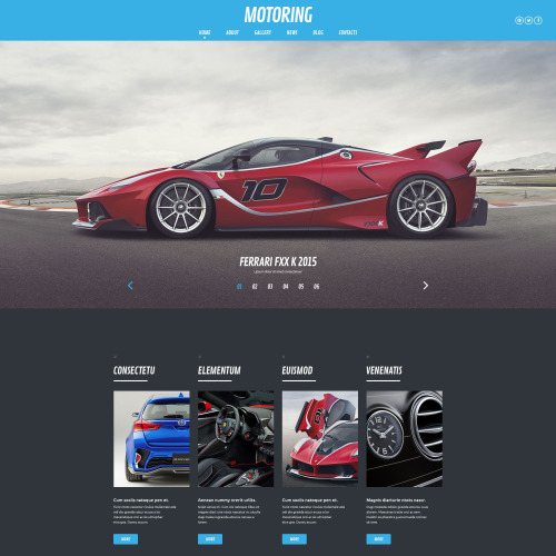 Motoring - WordPress Template based on Bootstrap