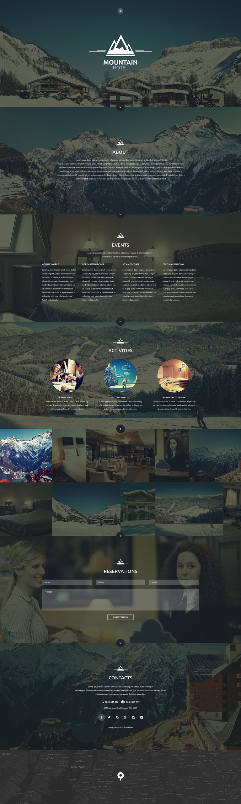 Mountain Hotel Website Template New Screenshots BIG