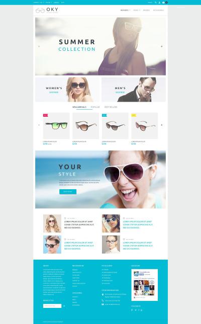 Eye Glasses Responsive PrestaShop шаблон