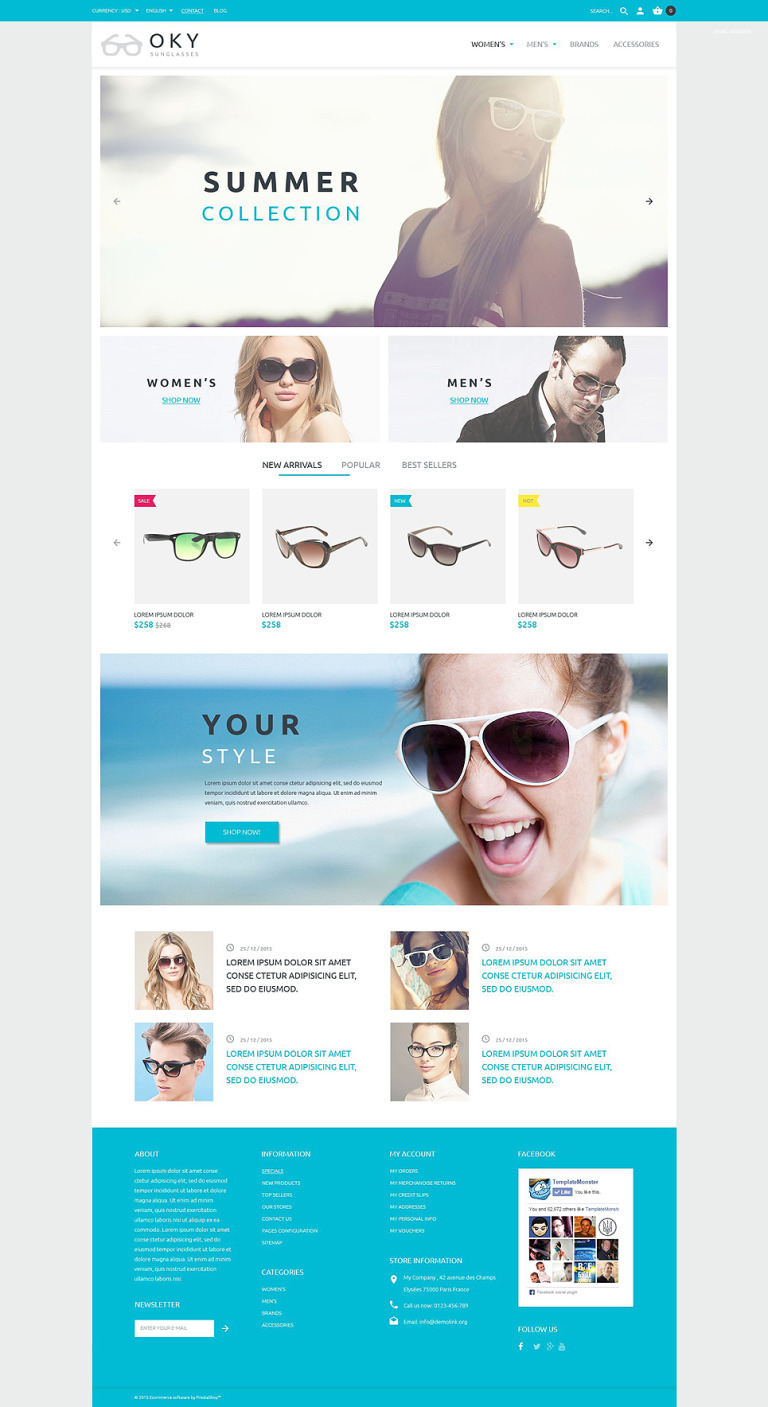 OKY PrestaShop Theme New Screenshots BIG