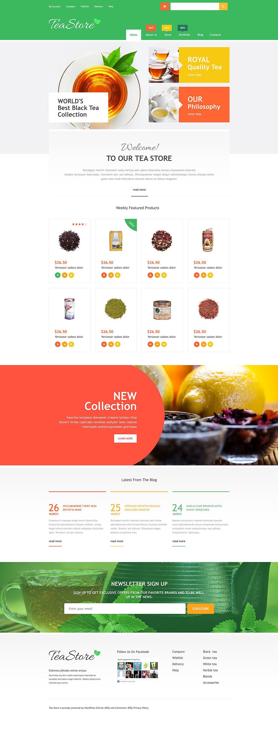 Online Tea Store WooCommerce Theme New Screenshots BIG