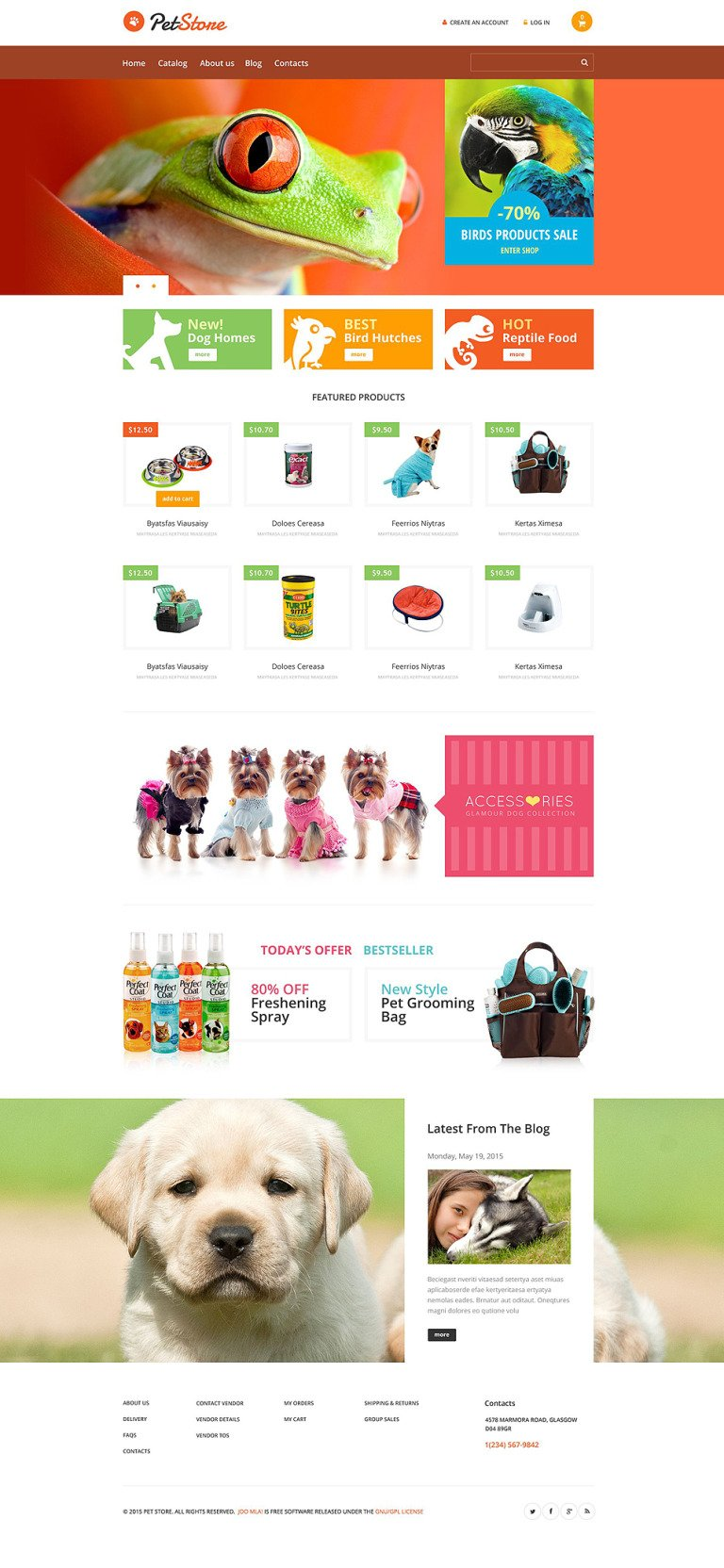 Pet Store VirtueMart Template New Screenshots BIG