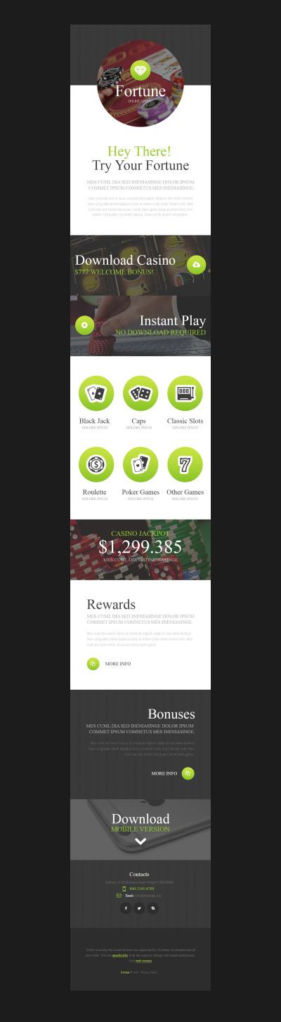 Responsive Plantilla De Boletín De Noticias #53804 para Sitio de  para Sitio de Casinos online