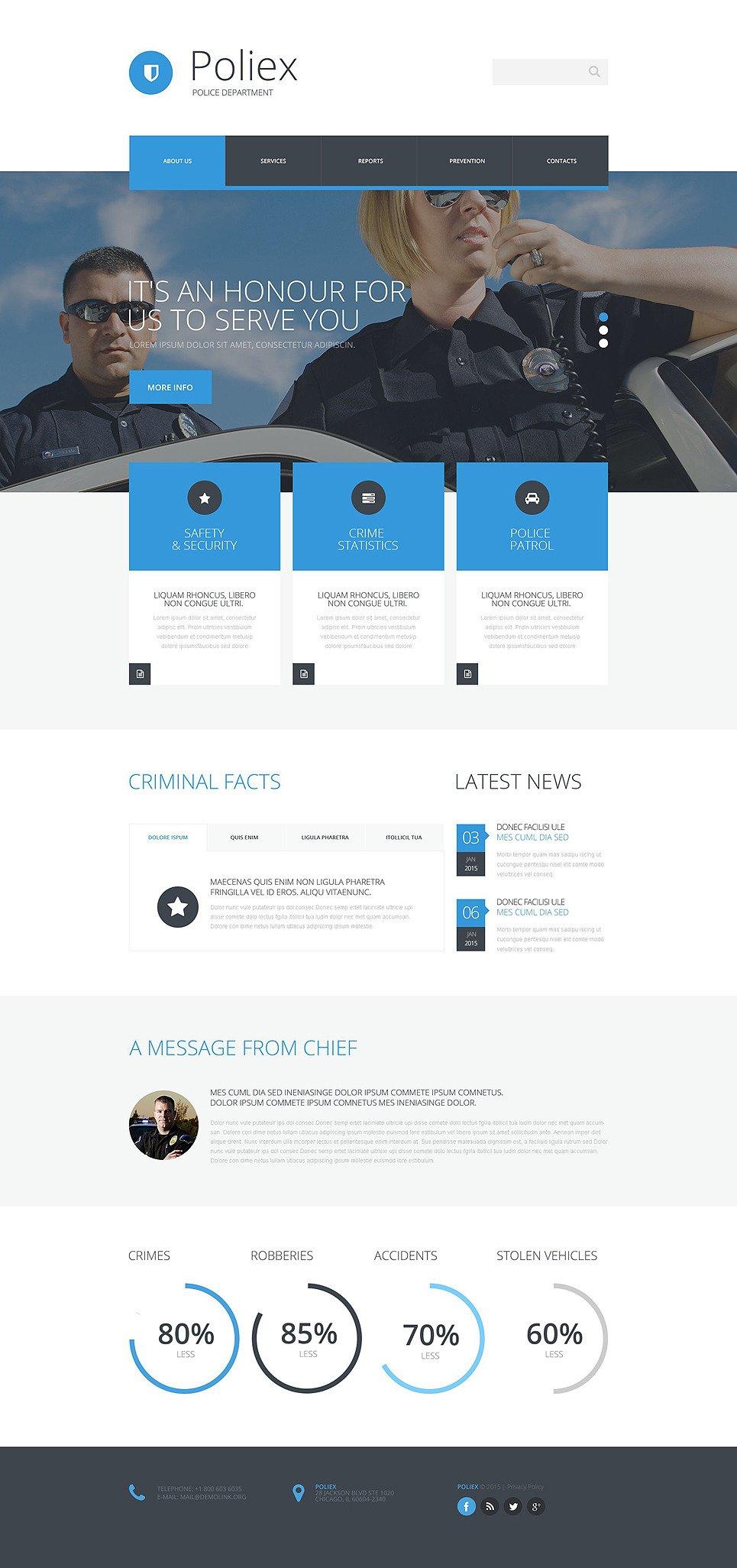 Police Department Website Template New Screenshots BIG