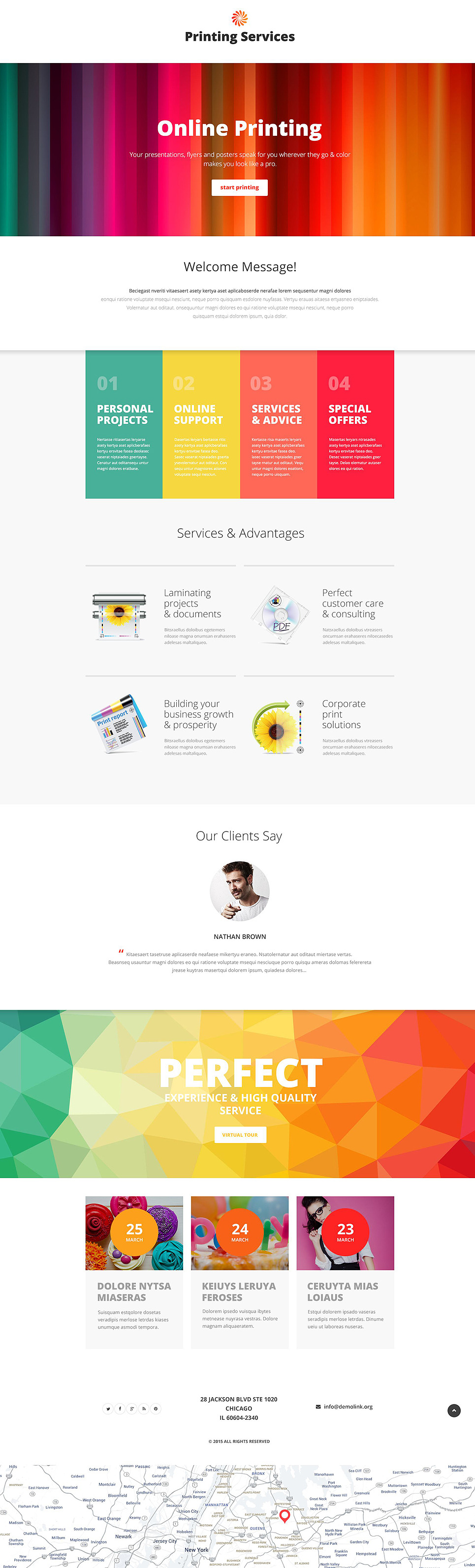 Print Shop Responsive Landing Page Template New Screenshots BIG