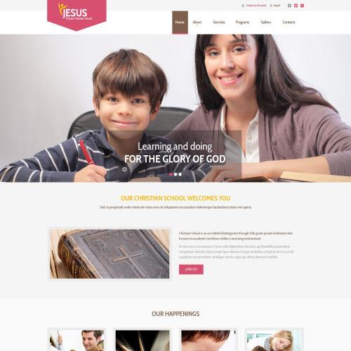 Jesus  - Responsive Website Template