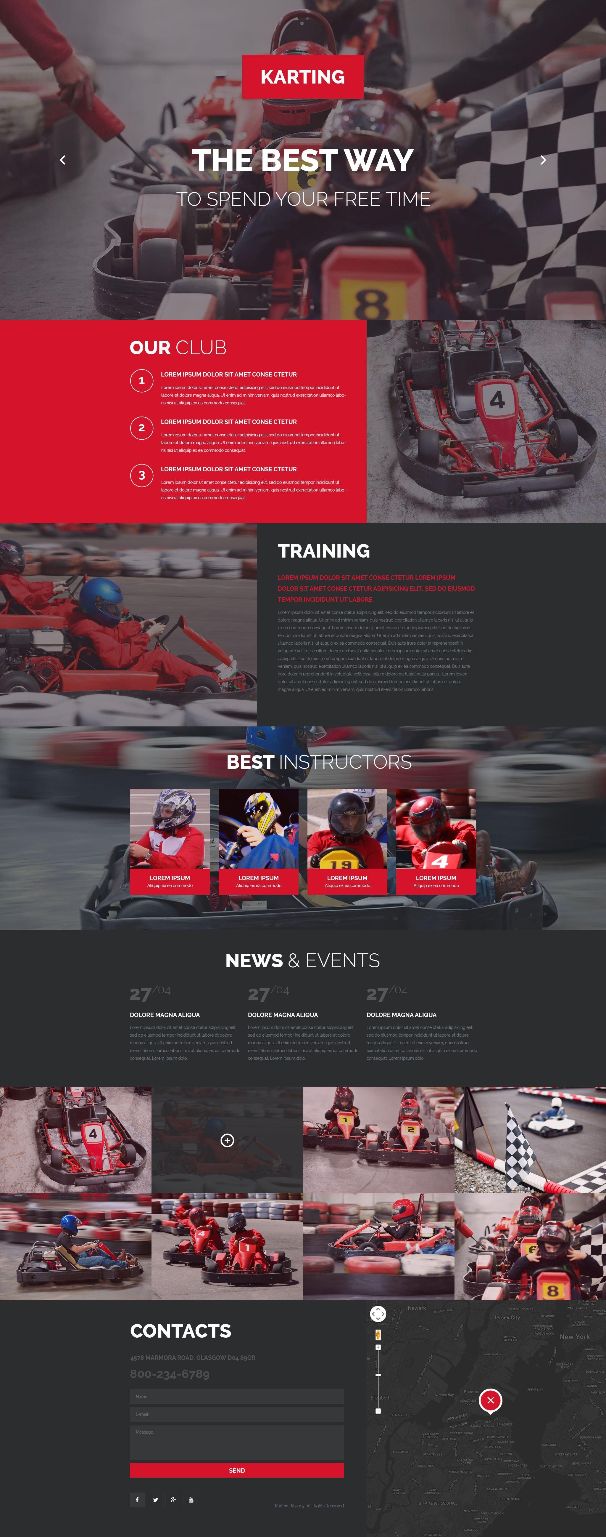Responsive Karting Açılış Sayfası #53869