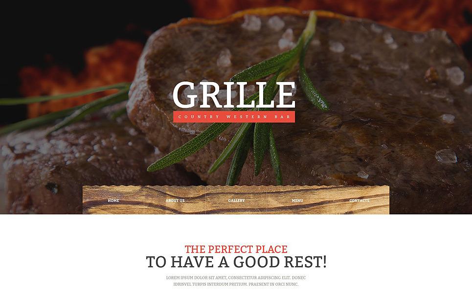 Responsive Website Vorlage für BBQ Restaurant  New Screenshots BIG