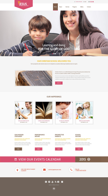 Website Vorlage #53867 für Christliche